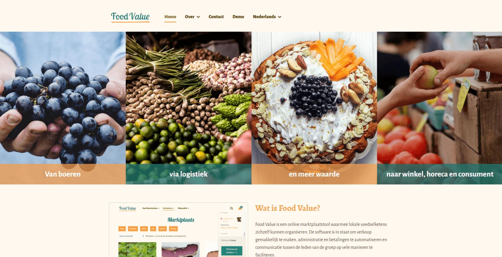 online B2B marktplaatsen in de voedingsindustrie