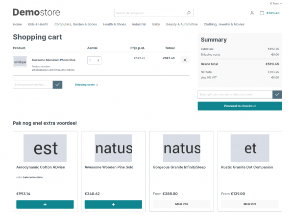 upsell products Shopware plug-in